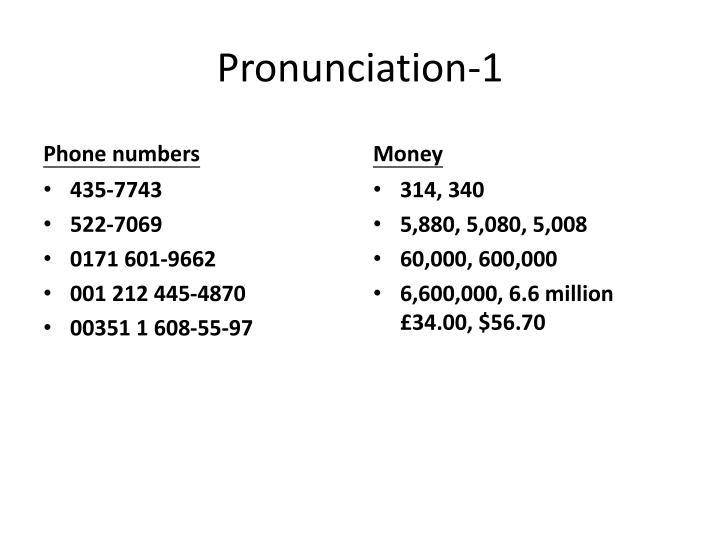 Pronunciation-1