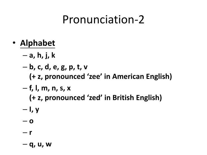 Pronunciation-2