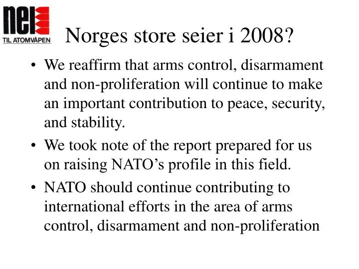 Norges store seier i 2008?