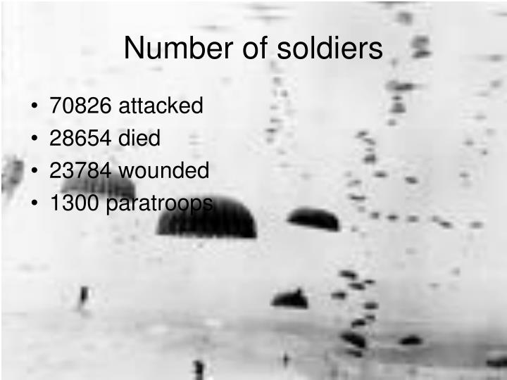 Number of soldiers