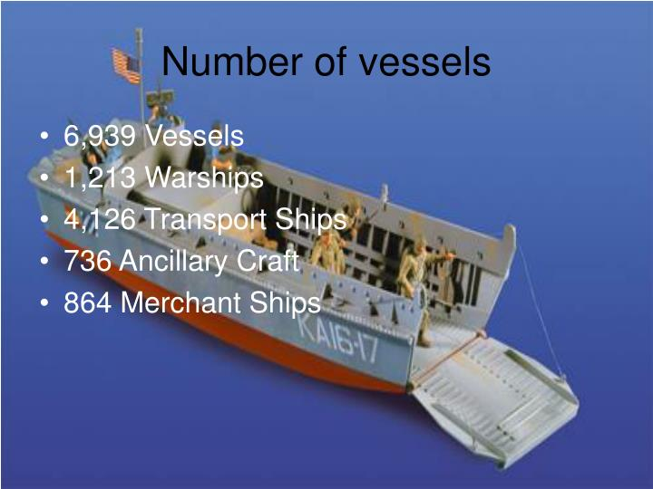 Number of vessels