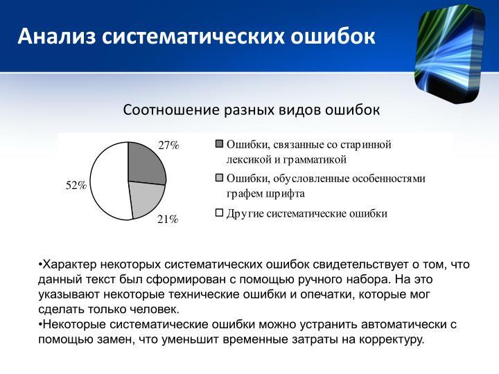 Анализ систематических ошибок
