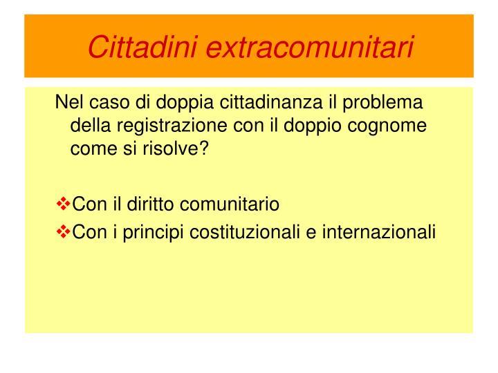 Cittadini extracomunitari
