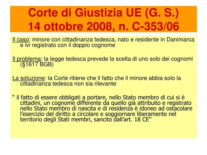 Corte di Giustizia UE (G. S.)