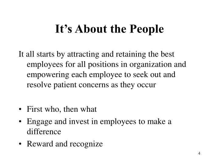 It's About the People