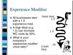 experience modifier