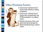 other premium factors