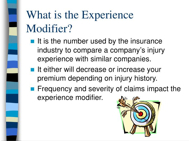 What is the Experience Modifier?