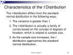 characteristics of the t distribution1