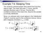 example 7 6 sleeping time