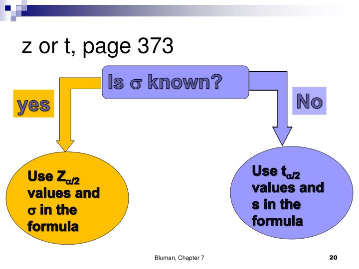 z or t, page 373