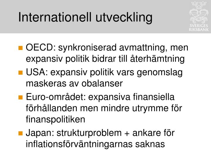Internationell utveckling