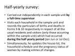 half yearly survey