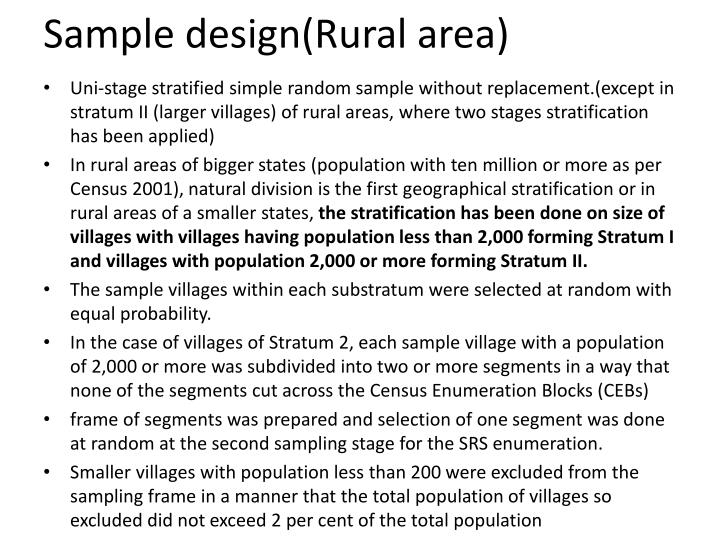 Sample design(Rural area)
