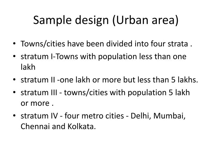 Sample design (Urban area)
