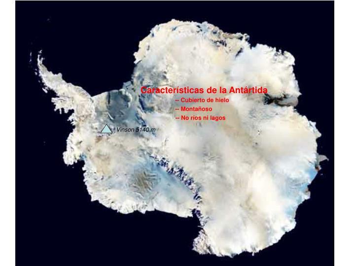 Características de la Antártida