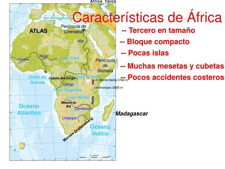 Características de África