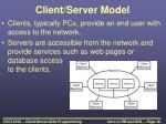client server model