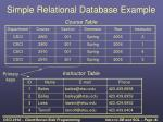 simple relational database example