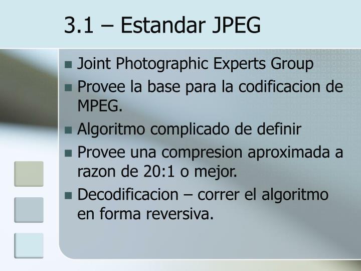 3.1 – Estandar JPEG