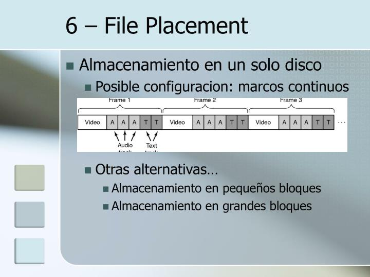 6 – File Placement