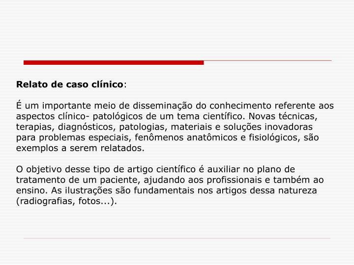 Relato de caso clínico