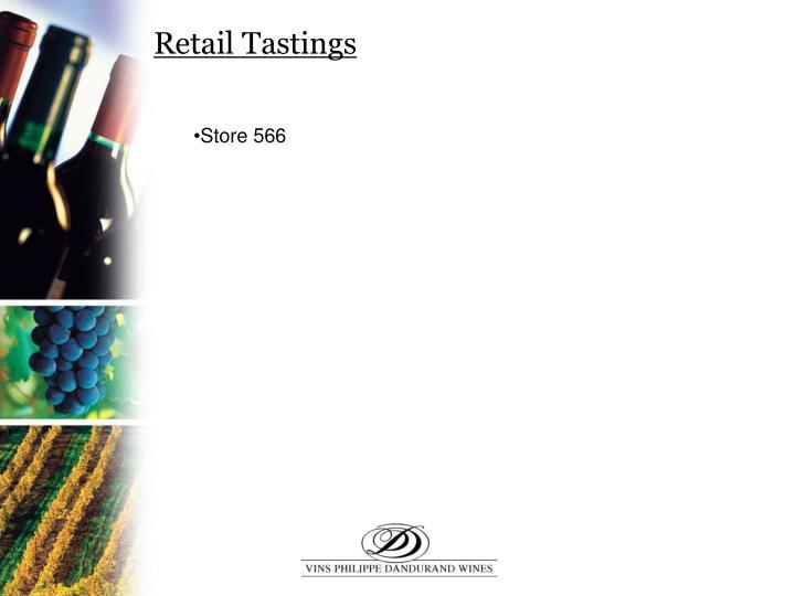 Retail Tastings