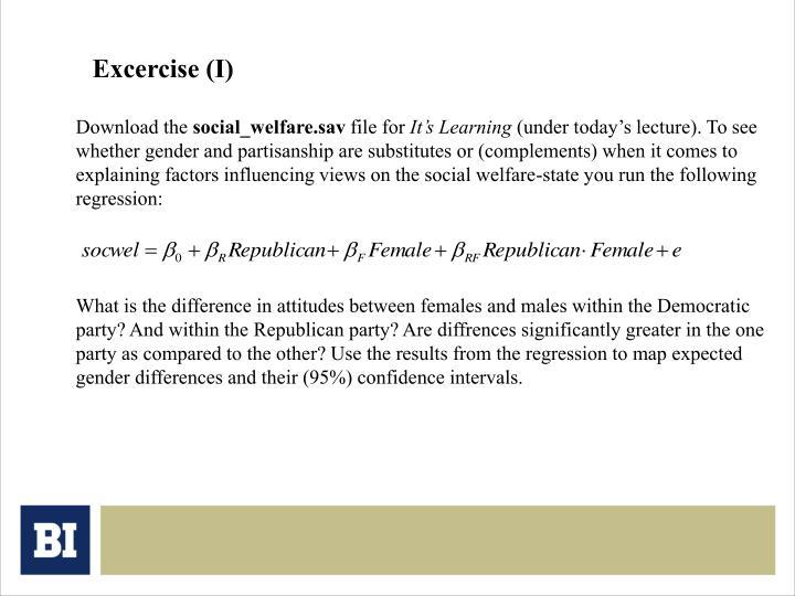 Excercise (I)