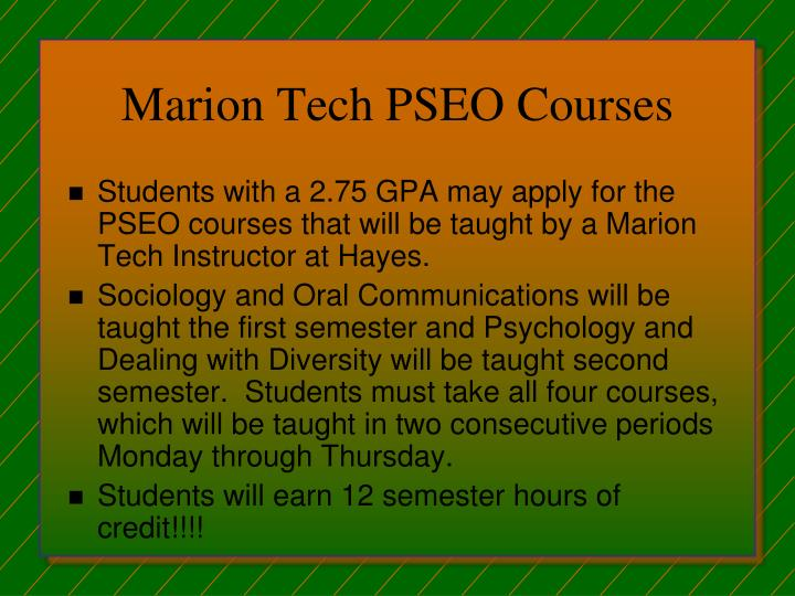 Marion Tech PSEO Courses