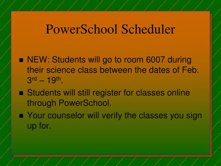 PowerSchool Scheduler