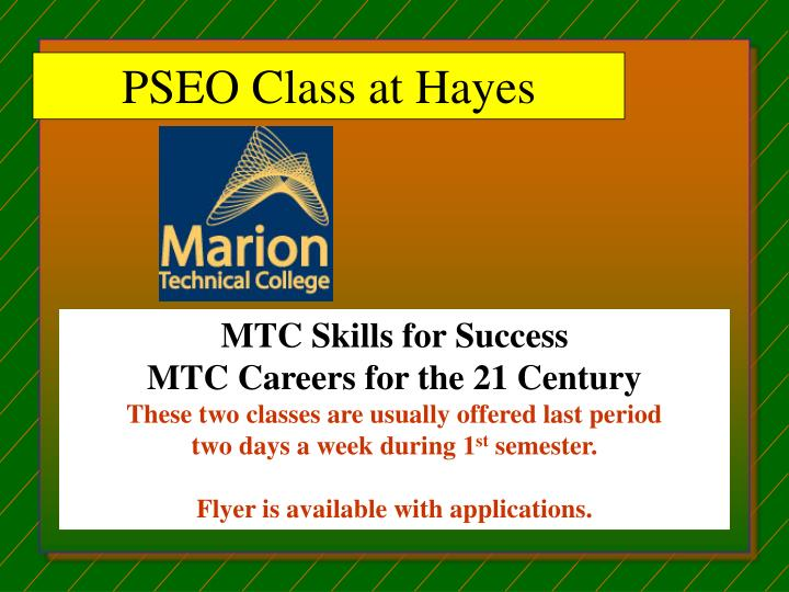 PSEO Class at Hayes