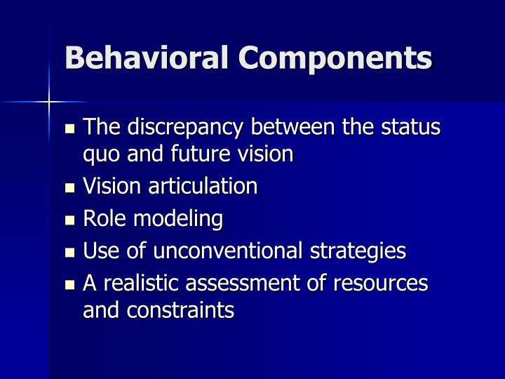 Behavioral Components
