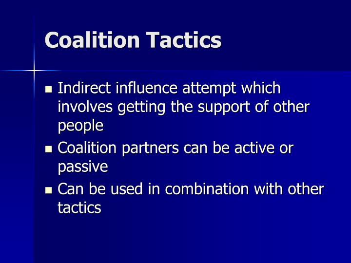 Coalition Tactics