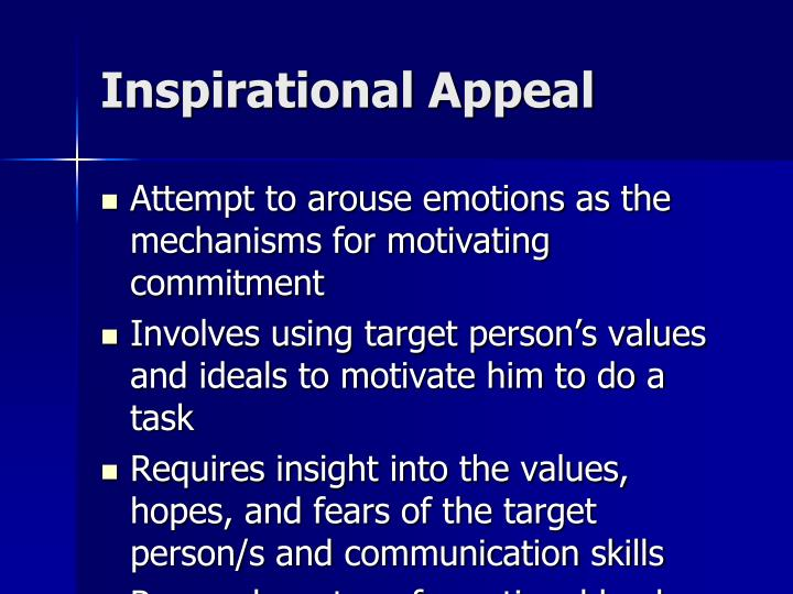 Inspirational Appeal