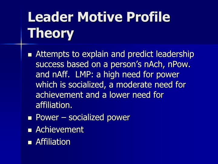 Leader Motive Profile Theory