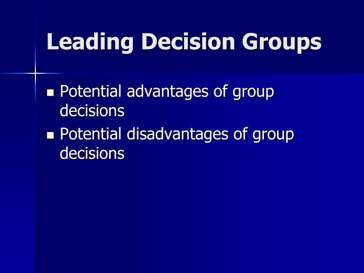 Leading Decision Groups