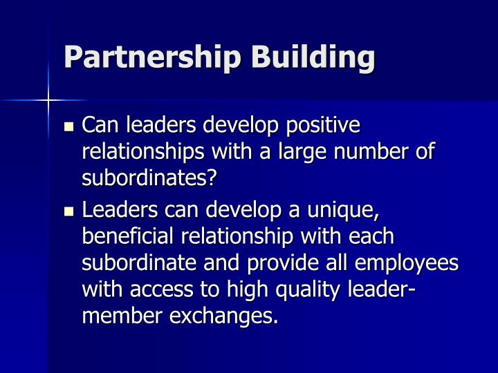 Partnership Building