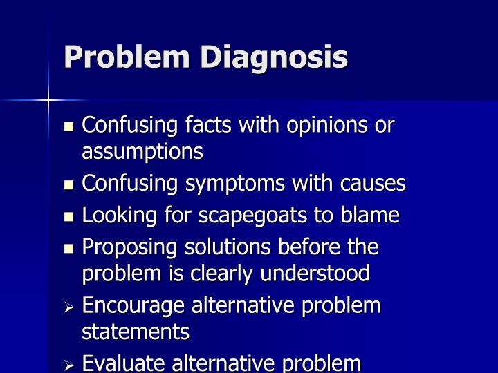 Problem Diagnosis