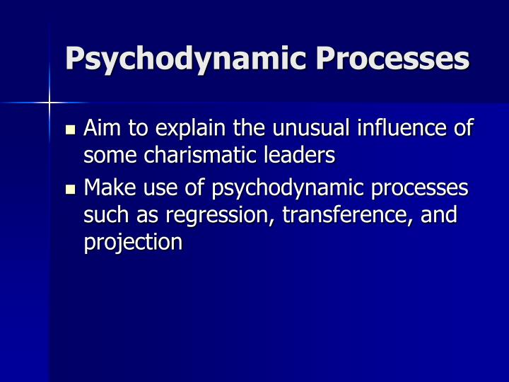 Psychodynamic Processes