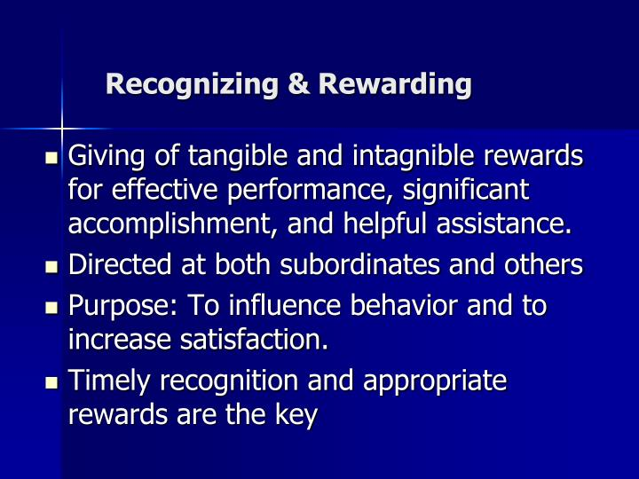 Recognizing & Rewarding
