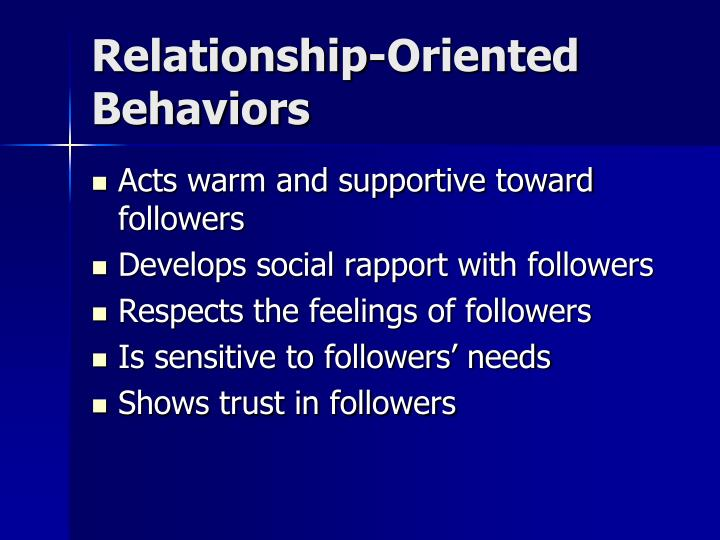 Relationship-Oriented Behaviors