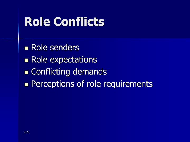 Role Conflicts
