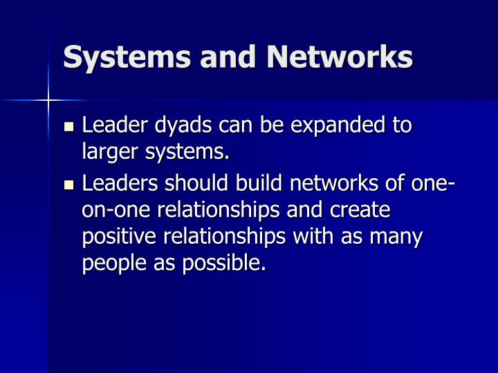 Systems and Networks