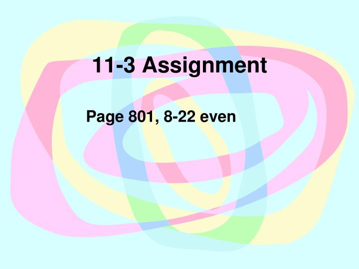 11-3 Assignment