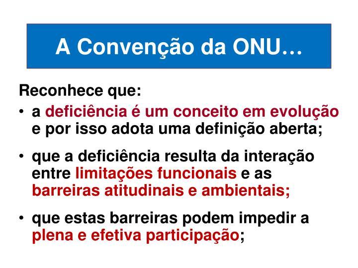 A Convenção da ONU