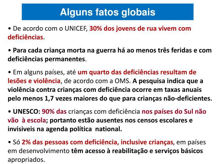De acordo com o UNICEF,