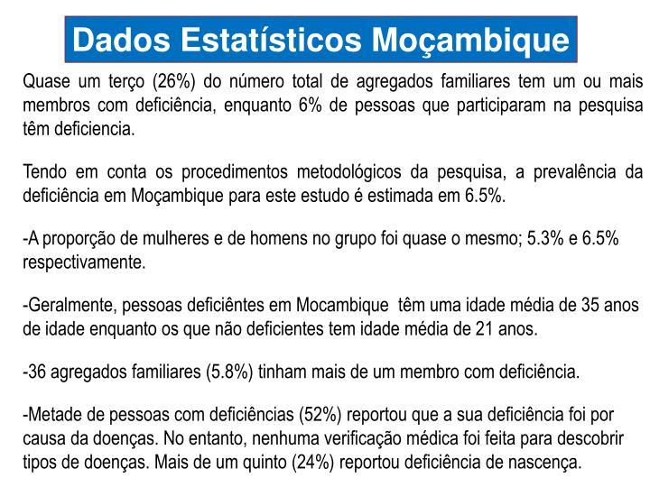 Dados Estatísticos Moçambique