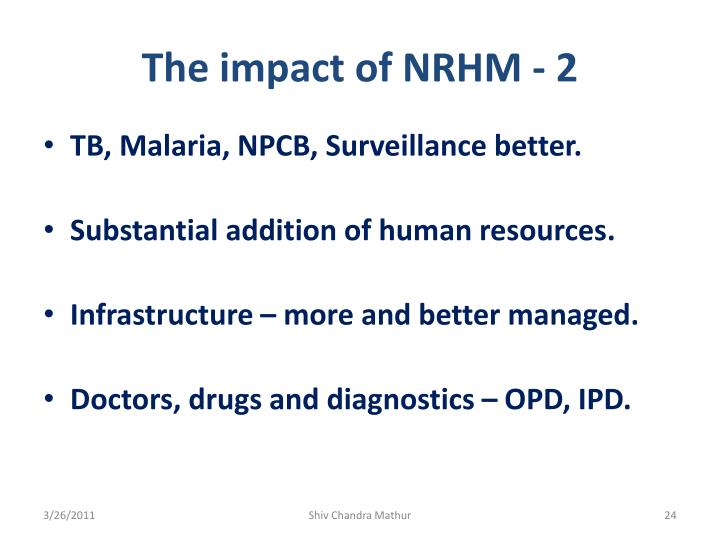 The impact of NRHM - 2