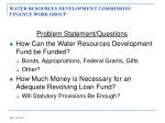 water resources development commission finance work group7