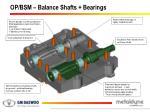 op bsm balance shafts bearings